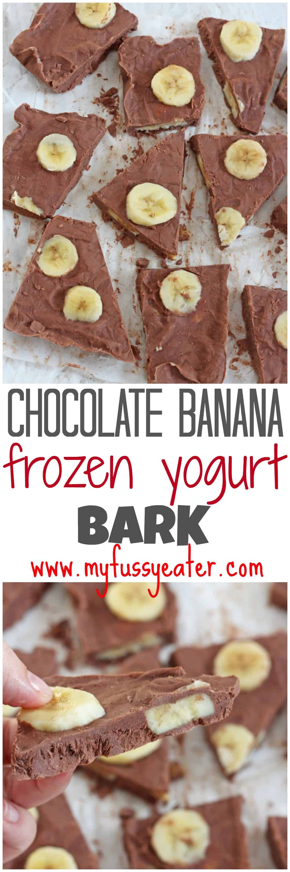 A delicious and healthy snack made with just four simple ingredients. A great alternative to ice cream for kids and perfect for the summer! My Fussy Eater blog
