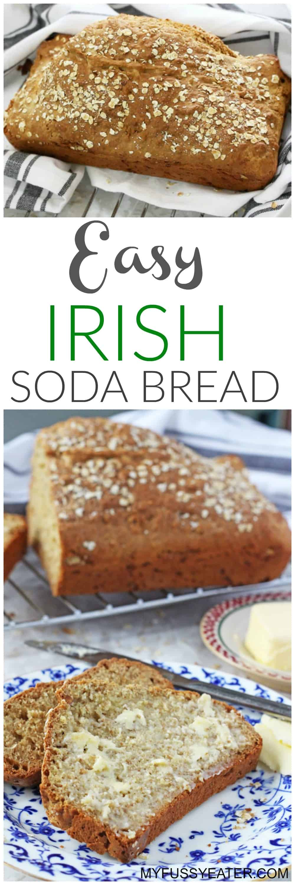 A really easy but also healthy recipe for traditional Irish Soda Bread | My Fussy Eater blog
