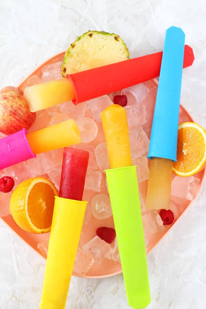 Summer is finally here! And I've found a way to make easy, cheap and healthy ice pops using just one ingredient... fruit juice!