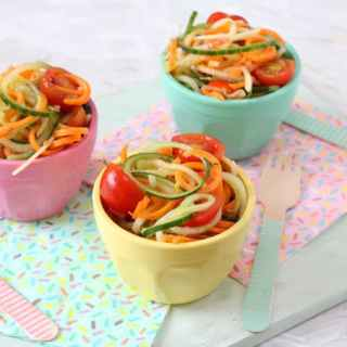 Spiralized Salad For Kids – Carrot, Cucumber & Apple