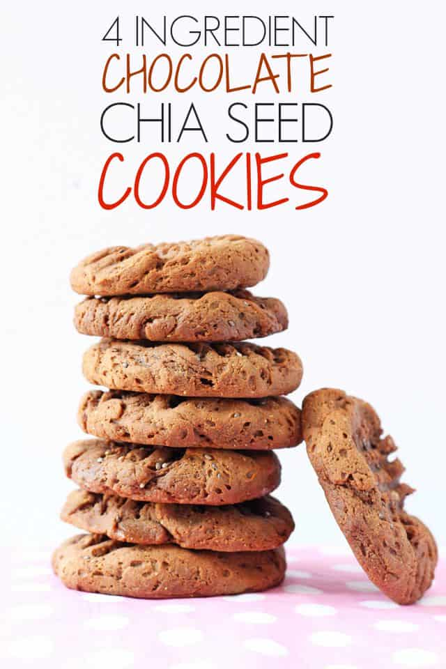 Four Ingredients Chocolate Chia Cookies | My Fussy Eater