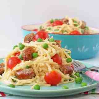 Quick Sausage Spaghetti For Kids