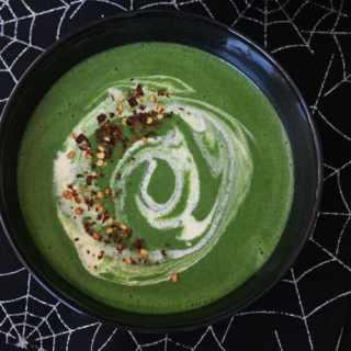 Green Goblin Halloween Spinach Soup