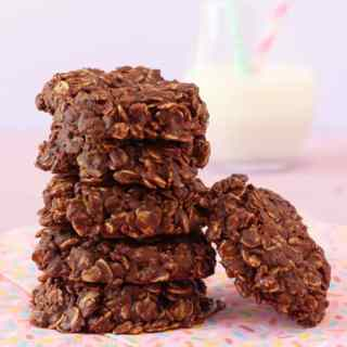 No Bake Chocolate Granola Cookies