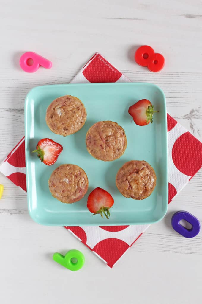 Delicious Banana & Egg Mini Muffins made with just three natural ingredients. Perfect for baby weaning and toddler finger food too!