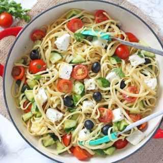 Greek Salad Linguine
