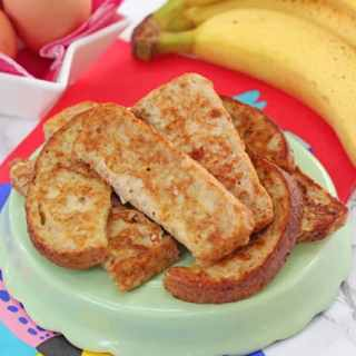 Baby French Toast { Eggy Banana Bread }