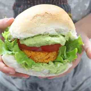 Sweet Potato & Chickpea Veggie Burgers