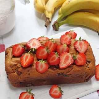 Healthy Strawberry Banana Bread