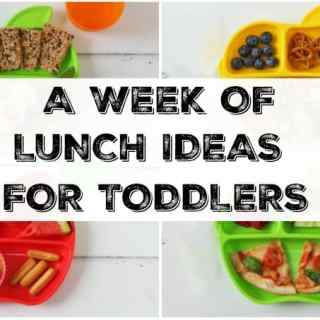 A Week of Lunch Ideas for Toddlers