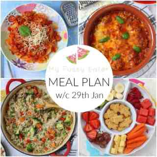 Family Meal Plan w/c 29th January 2018