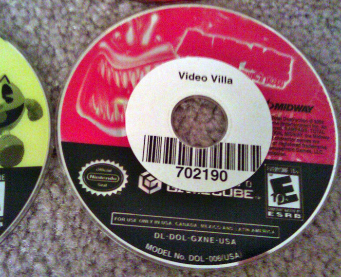 This game was an ex-rental. You never know what you are going to get buying used.