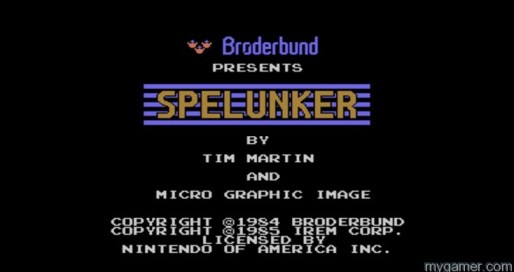 Even the title screen is bland Spelunker - 3DS Virtual Console Review Spelunker – 3DS Virtual Console Review Spelunker Title Screen