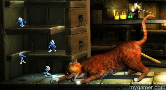Cat versus Smurf Smurfs 2 (Xbox 360) Review Smurfs 2 (Xbox 360) Review Smurfs 2 Cat Battle