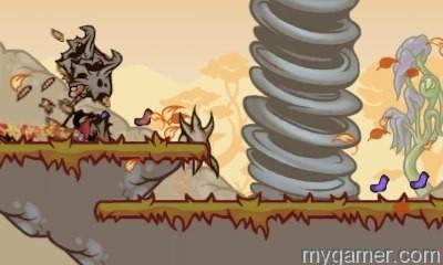 Run through tornadoes with devil horns