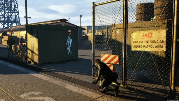 The new marking system bring balance to the challenging gameplay but can optionally turned off Metal Gear Solid V: Ground Zeroes Review Metal Gear Solid V: Ground Zeroes Review MGS V Marking 1024x576