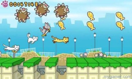 Skater Cat is a colorful game Skater Cat 3DS eShop Review Skater Cat 3DS eShop Review skater kat 3