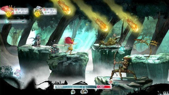 Combat is a unique twist on the active time battle system Child of Light (XBLA) Review Child of Light (XBLA) Review Child of Light combat 1024x576