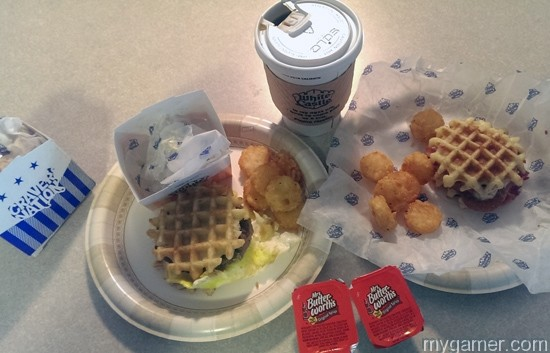 Yuck. Never again. Gamer's Gullet – White Castle Waffle Sandwiches (Breakfast and Chicken) Gamer's Gullet – White Castle Waffle Sandwiches (Breakfast and Chicken) White Caslte Breakfast All
