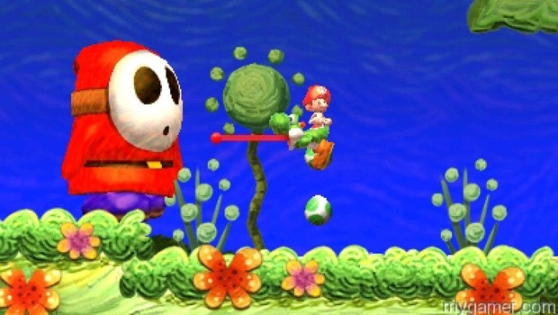 Eat this guy to poop out one big egg Yoshi's New Island Review Yoshi's New Island Review Yoshi Island Big Enemy