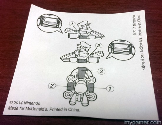 Picture only instruction sticker sheet Mario Kart 8 Happy Meal Toys Mario Kart 8 Happy Meal Toys Mario Kart 8 Happy Meal Sticker Instructions