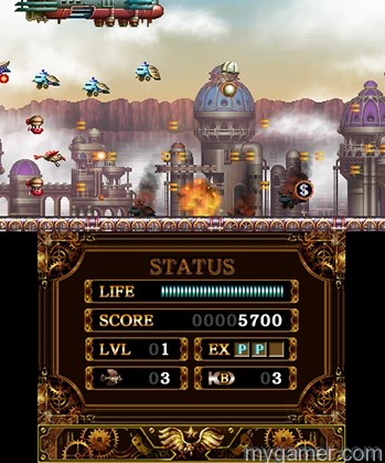 The bottom screen does not get in the way Steel Empire 3DS eShop Review Steel Empire 3DS eShop Review steel empire 11