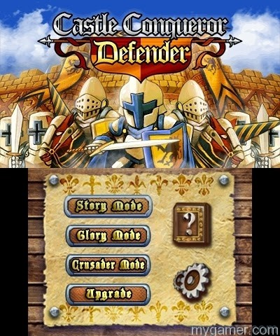 Glory Mode and Crusader Mode are unlocked in time Castle Conqueror Defender 3DS eShop Review Castle Conqueror Defender 3DS eShop Review Castle Conqueror Def menu