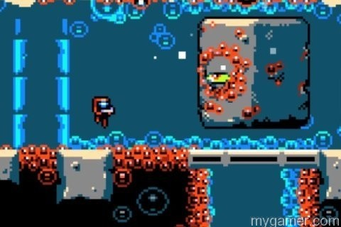 This guy takes too many hits to destroy Xeodrifter 3DS eShop Review Xeodrifter 3DS eShop Review Xeodrifter Rock