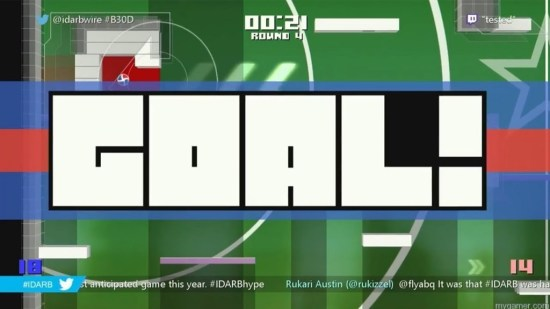 Even the GOAL! screen is humorous