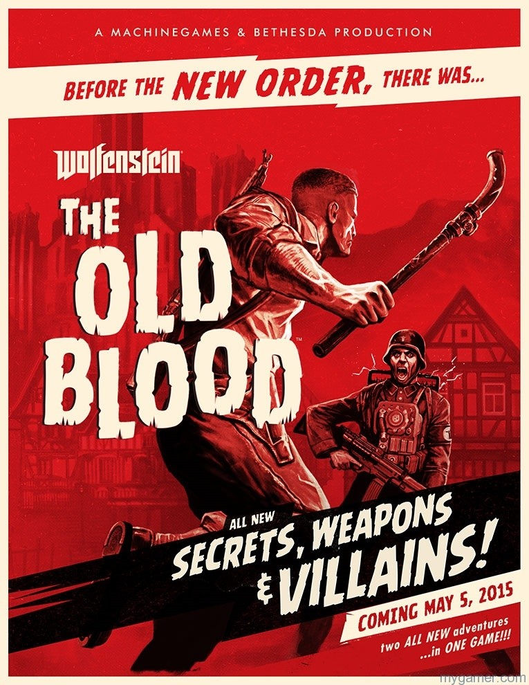 Bethesda Announces Wolfenstein: The Old Blood Bethesda Announces Wolfenstein: The Old Blood WOLF KeyArt US