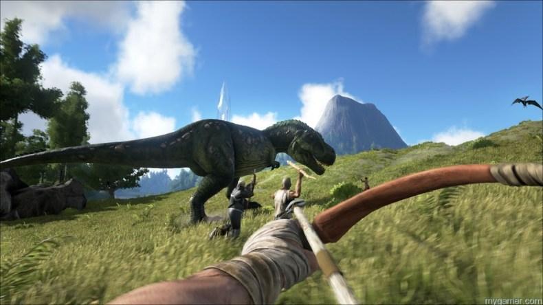 ARK: Survival Evolved Looks Like the Turok Game We've Always Wanted ARK: Survival Evolved Looks Like the Turok Game We've Always Wanted ARK Dino Bow