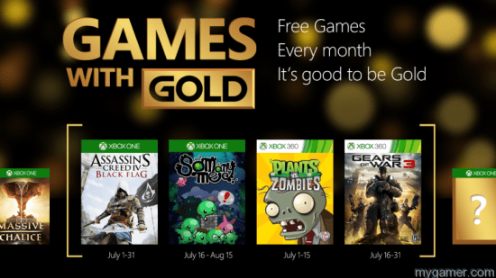 July 2015 Games for Gold