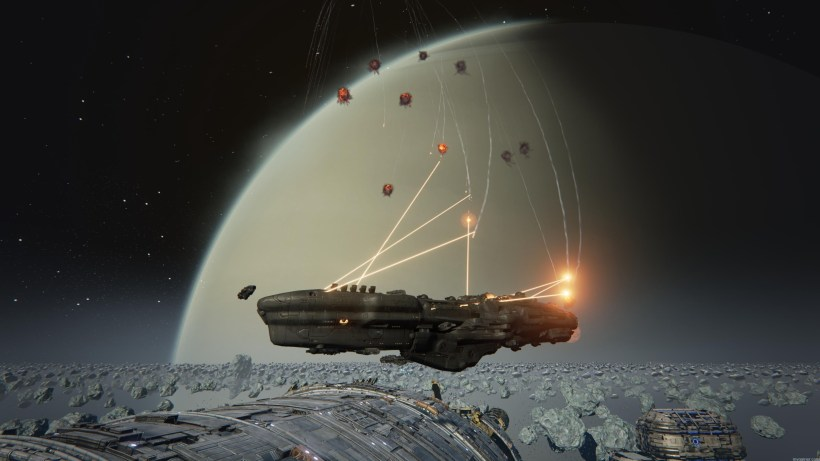 Battle in space in Dreadnought for PC