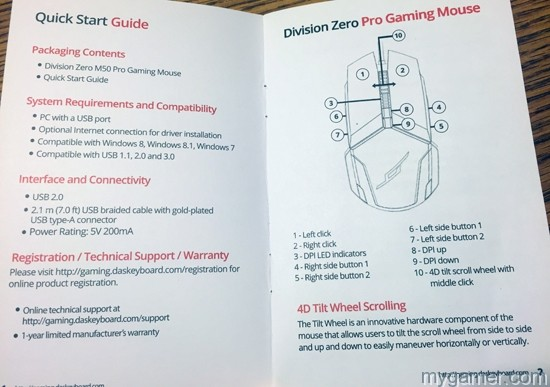 One page of instructions - simple division zero m50 pro gaming mouse review Division Zero M50 Pro Gaming Mouse Review Division Zero M50 Instructions