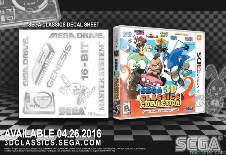 Pre-Order SEGA Classics 3DS, Get a Free Decal Sheet Pre-Order SEGA Classics 3DS, Get a Free Decal Sheet Sega Classics Decal 3DS