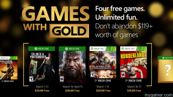 Xbox Live Gold Games March 2016 Xbox Live Free Games With Gold March 2016 Announced Xbox Live Free Games With Gold March 2016 Announced Xbox Live Gold Games March 2016