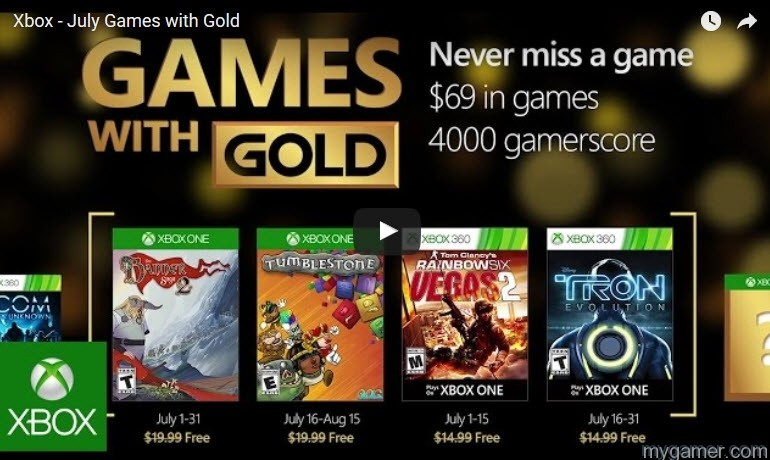 XBox Game With Gold July 2016