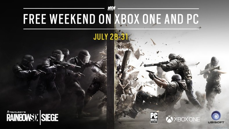 R6SIEGE Xbox and PC Free Weekend 7 1469650888.28.16 7.31.16