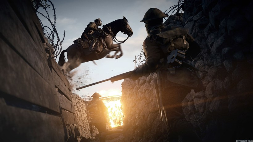 vehicles and horses in Battlefield 1