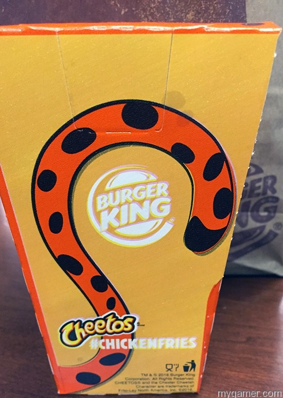 Chester Cheetah as a chicken gamer's gullet – burger king cheetos chicken fries review Gamer's Gullet – Burger King Cheetos Chicken Fries Review BK Cheetos Fries Box Back
