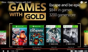 Games with Gold Oct 2016