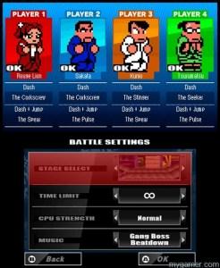 River City Tokyo Rumble Dodgeball Char Select