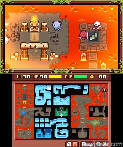 Many new interconnected areas to explore Fairune 2 3DS eShop Review Fairune 2 3DS eShop Review fairune 2 screen 3