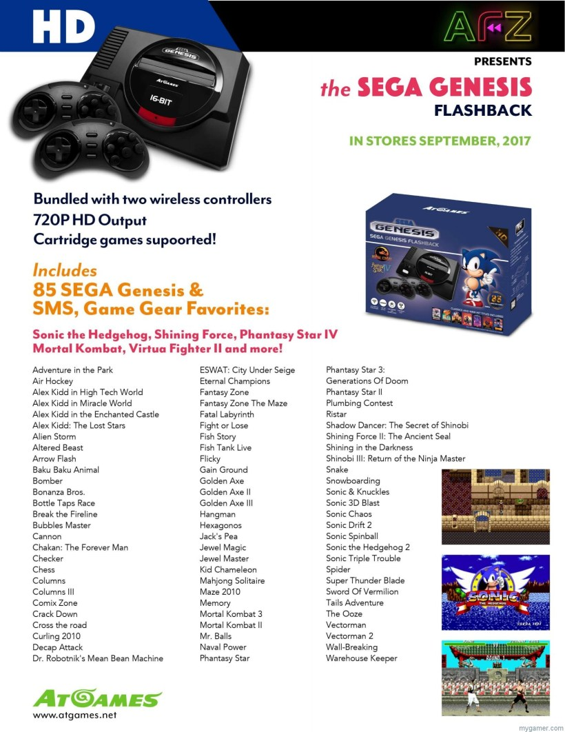 [object object] Details on the Atari and Genesis Flashback Systems 2017 Sega Genesis Flashback