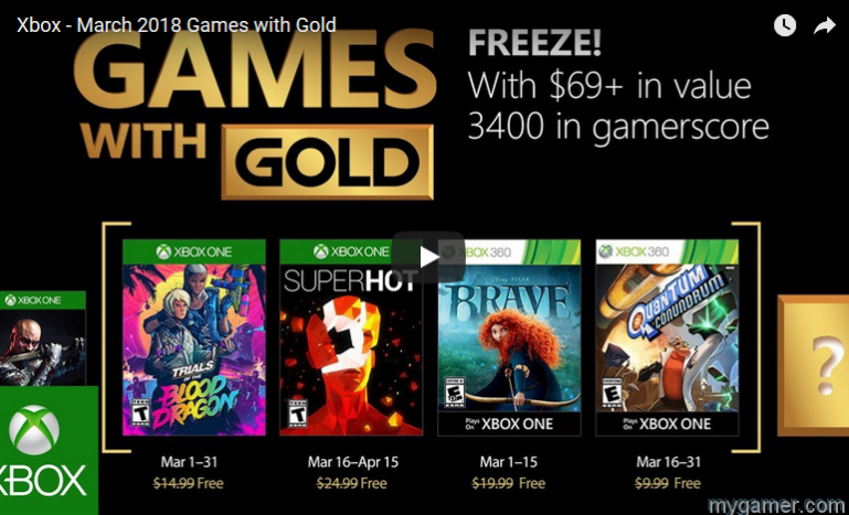 march 2018's free xbox games March 2018's FREE Xbox Games Xbox Games with Gold March 2018