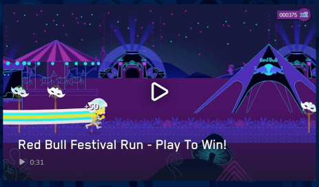 drink red bull from a uv exposing can and play their game to win musical festival tickets Drink Red Bull from a UV exposing can and play their game to win musical festival tickets Red Bull Festival Run