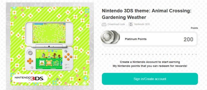 mynintendo has new animal crossing 3ds theme - video here MyNintendo has new Animal Crossing 3DS theme – video here Animal Crossing Gardening Weather