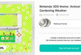 mynintendo has new animal crossing 3ds theme - video here MyNintendo has new Animal Crossing 3DS theme – video here Animal Crossing Gardening Weather