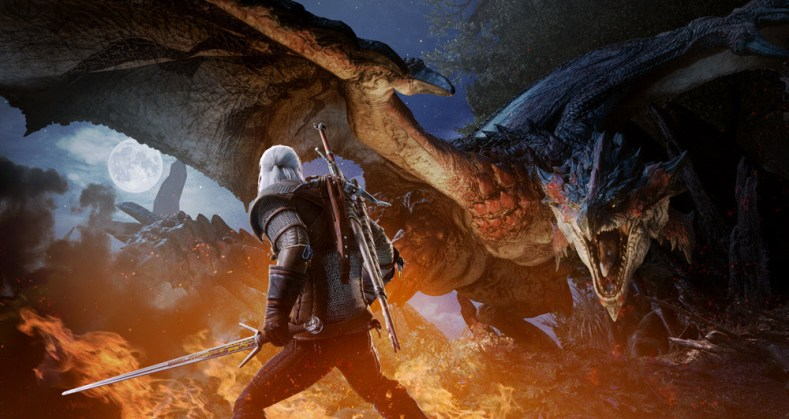 the witcher takes on a new contract in monster hunter: world crossover The Witcher takes on a new contract in Monster Hunter: World crossover Witcher Monster Hunter World