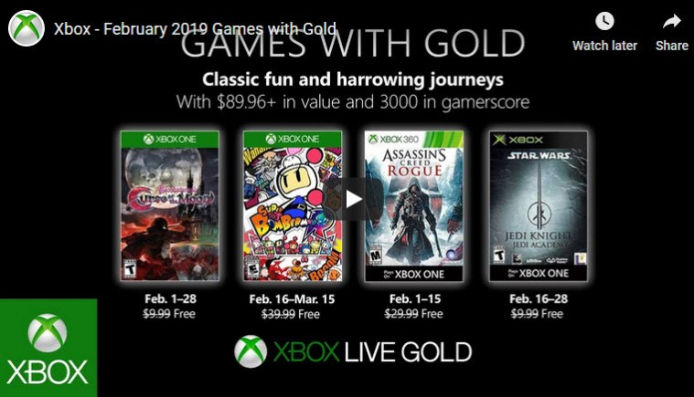 xbox live games with gold for february 2019 Xbox Live Games With Gold For February 2019 Games with Gold Feb 2019